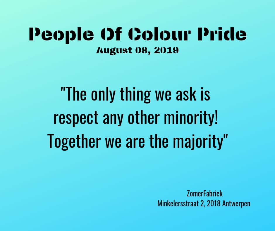 The only thing we ask is respect any other minority! Together we are the majority.