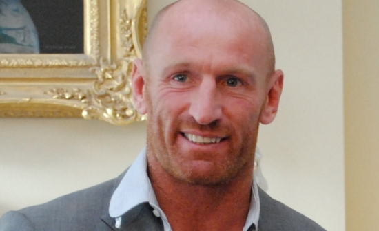 Close-up van Gareth Thomas