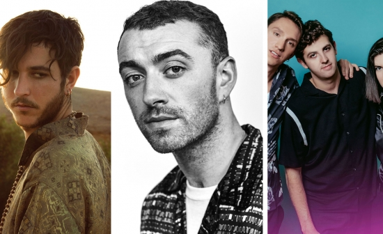 Drieluik van Oscar And The Wolf, Sam Smith en The XX