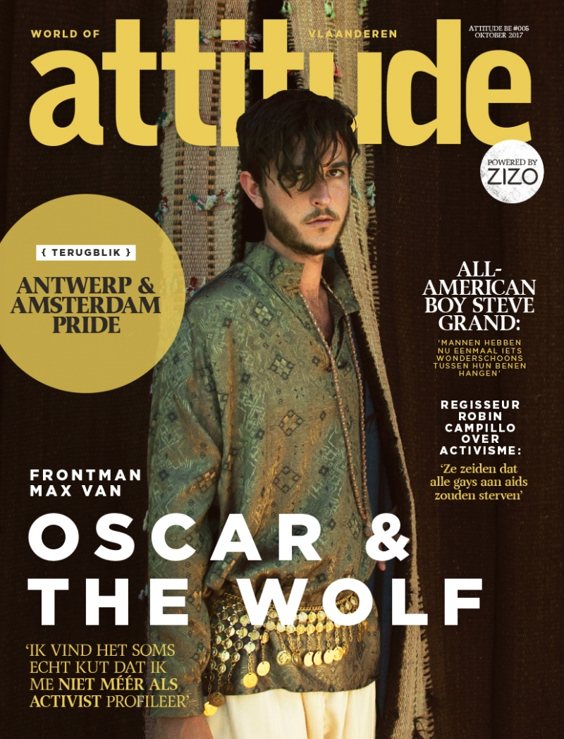 Attitude cover met Oscar and The Wolf