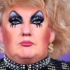Donald Trump als dragqueen