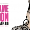Promo van Blame it on Bianca Del Rio met een foto van de drag queen